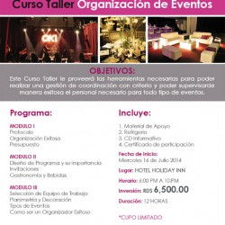 event school curso organizacion-Julio 2014