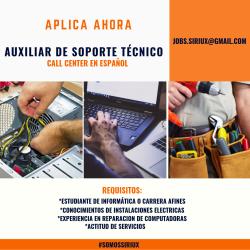 AUXILIAR DE SOPORTE TECNICO
